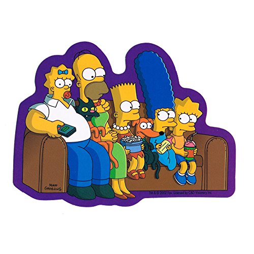 (STICKER - The Simpsons Switched Heads Bart Homer Marge Lisa Decal SB11)