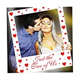 Aahs Engraving Valentine's Day Party Frame Photo Prop, 35 X 30 inches (''Just the Two of Us'')