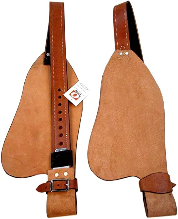 BARREL SADDLE FENDERS HORSE WESTERN PLEASURE REPLACEMENT PAIR TOOLED LEATHER