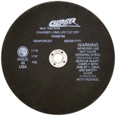 Norton Charger Long Life Circular Saw Reinforced Abrasive Cut-Off Wheel, Type 01 Flat, Aluminum Oxide, 5/8