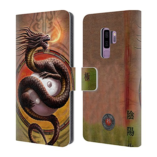 - Official Anne Stokes Yin Yang Protector Dragons Leather Book Wallet Case Cover for Samsung Galaxy S9+ / S9 Plus