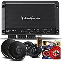 Rockford Fosgate R250X4 Prime 250 Watts 4-Channel Amplifier + (4) Kenwood KFC-1695PS 320W 6.5 3-Way Speaker + Amp Kit