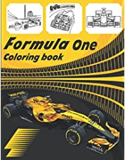 Formula one coloring book: collection of 35 amazing f1 cars in action ,racing cars ,race cars for all ages for adults to relax ,motorsport sports cars for kids ages 4-8 and toddlers ,5 years old ,ages 6-8 and 8-12 children gift boys, men girls women .
