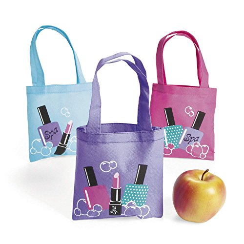 Fun Express Spa Party Mini Tote Bags (24 Count) by Fun Express