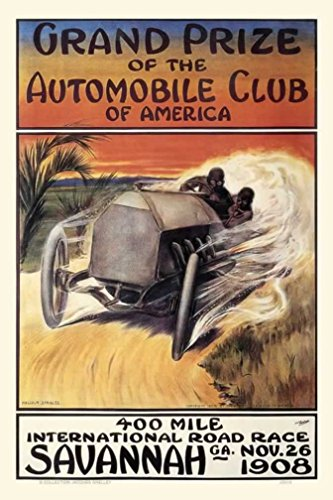 1908 Grand Prix Savannah 400 Mile International Road Race Ca