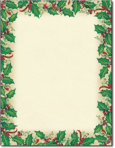 (Dancing Holly Stationery - 80 Sheets)