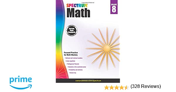 Math Worksheets free printable math worksheets 5th grade : Spectrum Math Workbook, Grade 8: Spectrum: 0044222238599: Amazon ...