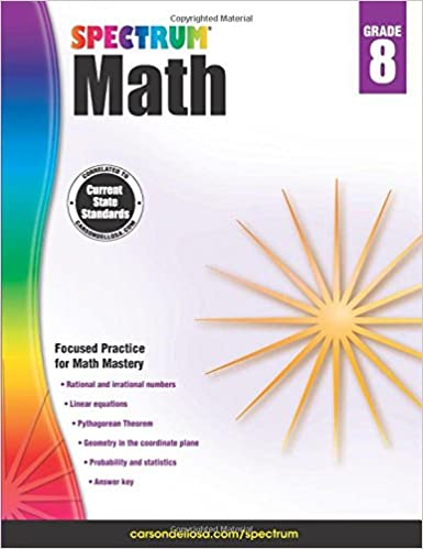 Spectrum Math Workbook, Grade 8: Spectrum: 0044222238599: Amazon ...