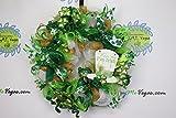 St. Patricks Day Deco Mesh Wreath, St. Patty's Day Decor, Kiss Me I'm Irish Decor, Patty's Day Decor, Clover Wreath, Green Gold White Wreath