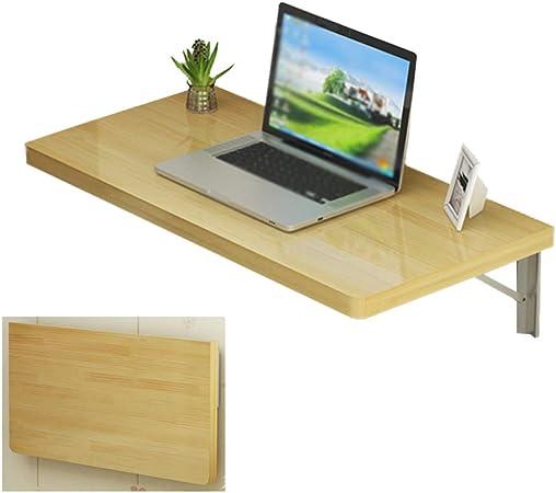Mesa de trabajo plegable montada en la pared, Mesa plegable de madera de pino montada en