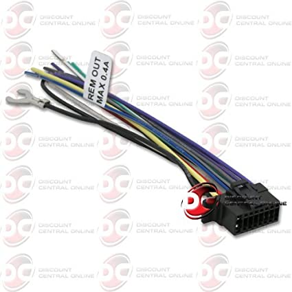 amazon com sony 16 pin wiring harness for select 2013 sony headunit  sony 16 pin wiring harness for select 2013 sony headunit stereo radio for wx gt80ui