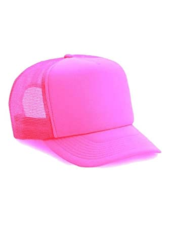 b46ba3ab Thatsrad Neon Mesh Trucker Hat Cap, Pink: Amazon.co.uk: Clothing