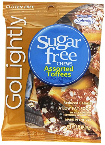 (GoLightly Sugar Free Hard Candy, Cinnamon, 2.75 Ounce Bag (Pack of)