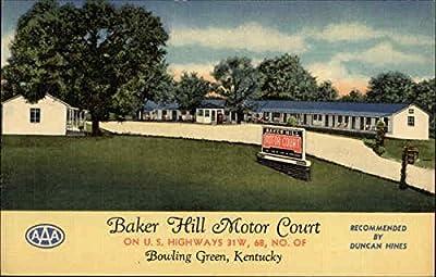 Baker Hill Motor Court Bowling Green, Kentucky Original Vintage Postcard