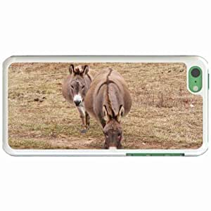 Custom Fashion Design Apple iPhone 5C Back Cover Case Personalized Customized Diy Gifts In 2 donkeys White