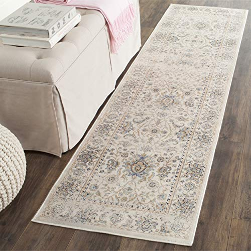 Safavieh Persian Garden Vintage Collection PGV607C Traditional Ivory Silky Viscose Distressed Runner (2'2