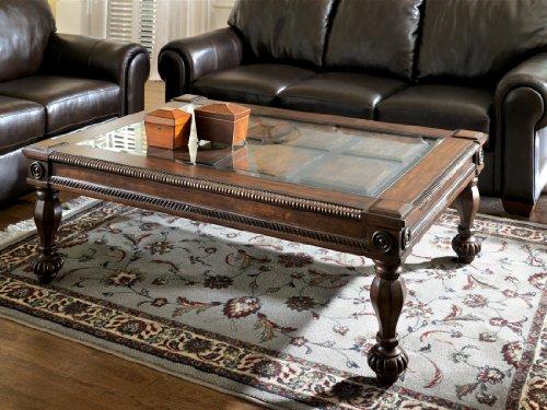 Signature Design by Ashley Mantera Rectangular Cocktail Table, Dark Rustic ()