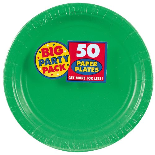 Amscan – Festive Green Big Party Pack Dinner Plates, Health Care Stuffs