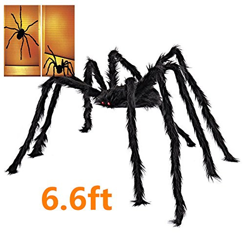 [6.6 FT Halloween Decorations Giant Spider Large Spider 79 inch Outdoor Indoor Decor Yard Decorations] (Chair Costume Prank)