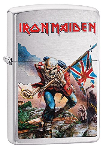 Zippo Iron Maiden Brushed Chrome Pocket Lighter