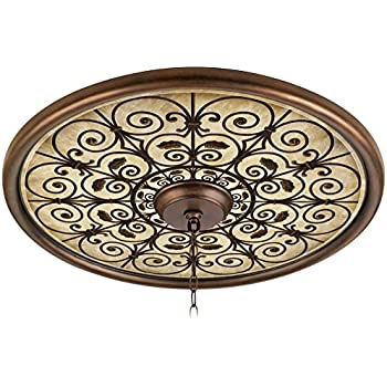Perfect Madrid Clay 24u0026quot; Wide Bronze Finish Ceiling Medallion