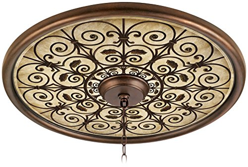 Madrid Clay 24'' Wide Bronze Finish Ceiling Medallion by Universal Lighting and Decor