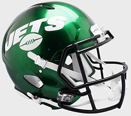 Riddell Revolution Helmets - Riddell NFL New York Jets NFL Speed Authentic Football Helmet