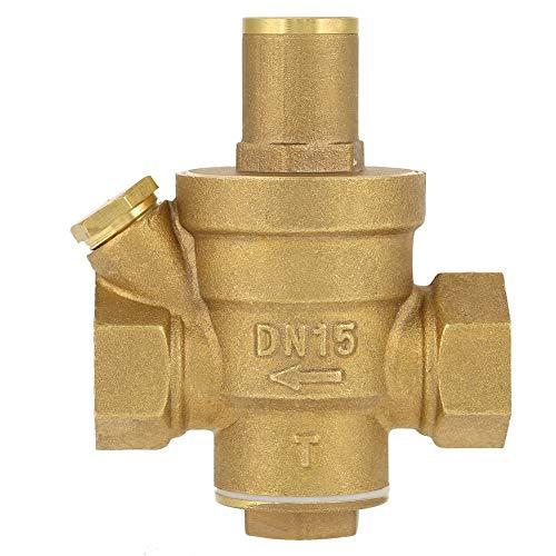 Pressure Regulator - 1pc Adjustable Water Pressure Regulator Brass Reducing Pressure Valve Thread DN15 1/2