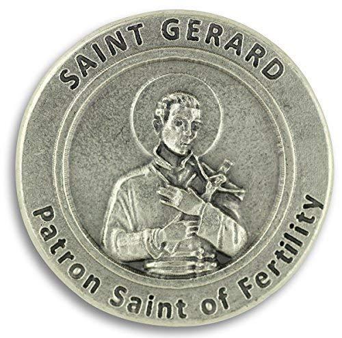 St St. Saint Gerard Pocket Token Coin Patron Saint of Fertility (Patron Saint Of The Unemployed Job Seekers)