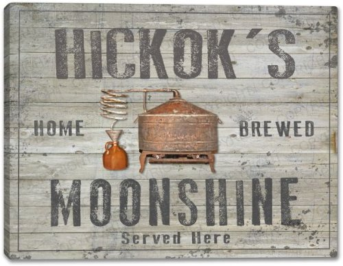 HICKOK'S Home Brewed Moonshine Stretched Canvas Print