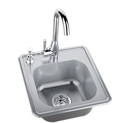 Amazon.com : SUNSTONE A-SS17 Single Sink with Hot and Cold Water ...