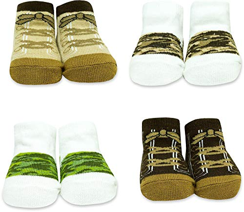 - Baby Essentials Boys Camo Design 4 Pack Sock Set, Assorted Camo Colors , 0-6 Months