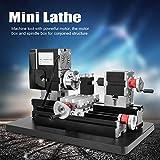 ini Lathe Woodworking Machine, Mini Lathe 60W Power Metal Machine 12000RPM Motor Woodworking Soft Metal DIY Tool Modelmaking