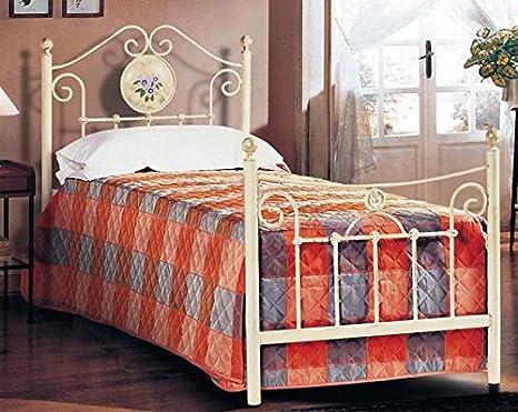 Madeinitaly letto singolo in ferro colore grigio alluminio