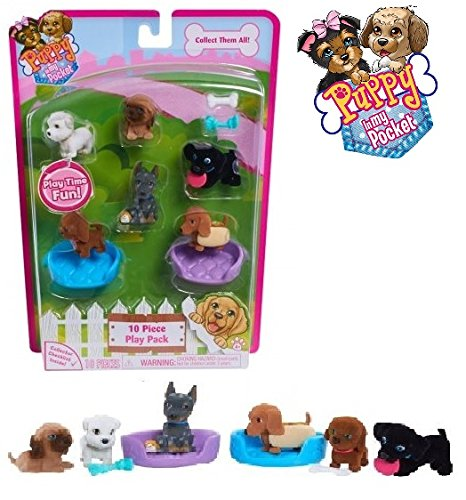 NEW! Puppy in My Pocket – 10 PIECE PLAY PACK Style 2 - Collectible Set Includes:Six of the Newest Puppy in My Pocket Figures. The Perfect Gift for Every In My Pocket Fan!