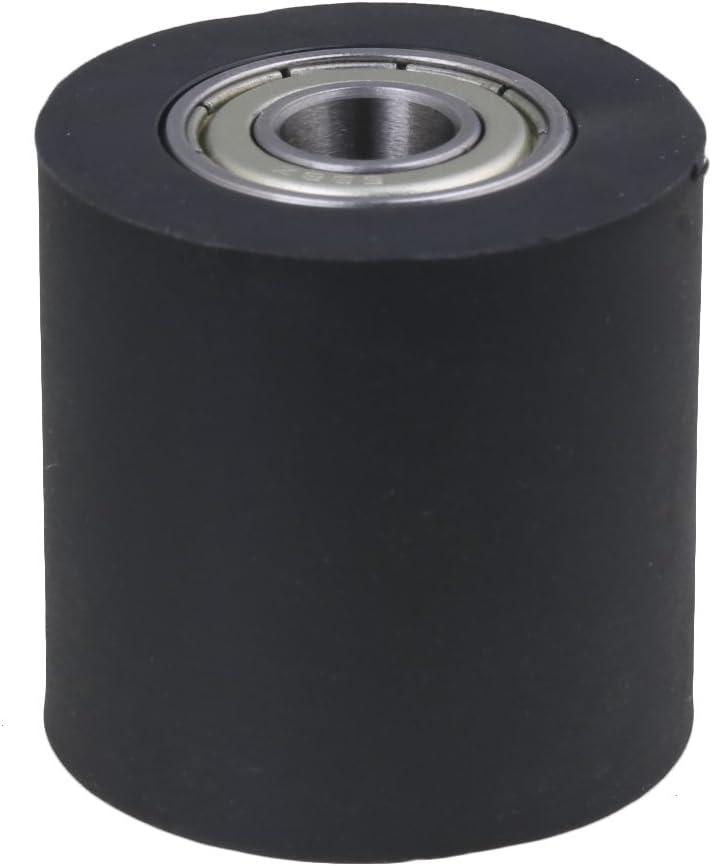 BQLZR negro recubierto de plástico sellada de acero carril guía de cadena de transmisión rodamiento de rodillo polea rueda para puerta ventana de engranajes ingeniería mecánica, M4171229487