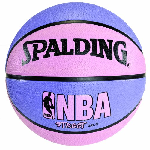 Spalding NBA Street Basketball - Pink & Purple - Intermediate Size 6 (28.5