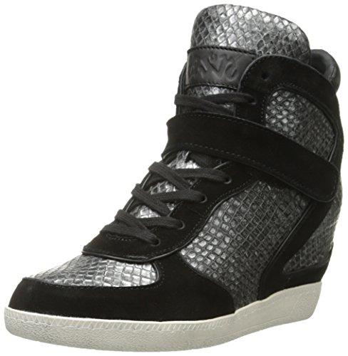 Ash Women's Brendy Fashion Sneaker, Black/Pewter, 35 EU/5 M US