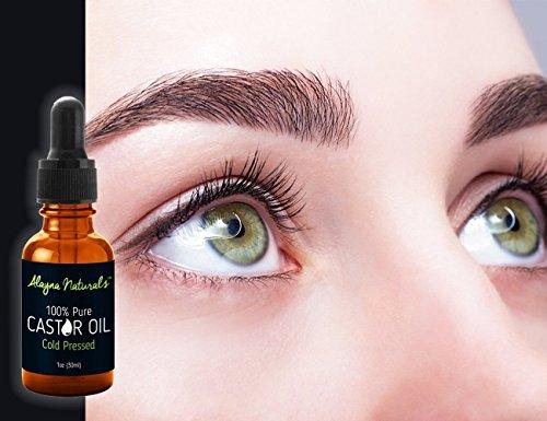 Pure Aceite De Ricino Para Pestañas Cejas El Crecimiento Del Cabello Piel Y Face 1oz Beauty