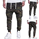 OWMEOT Match Men's Athletic-Fit Cargo Pant (Army Green, XL)