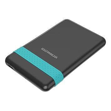 Yottamaster 2,5 Pulgadas Carcasa de Disco Duro Externo USB 3.1 Tipo C 2TB para 9.5mm 7mm SATA HDD/SSD Sin Herramientas [SATA3.0 y UASP]