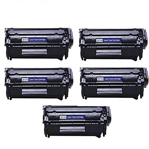 Kit 5 Toners Q2612a Preto Compatível 100% novo Hp - Impressoras 1010 1015 1018 1020 1022
