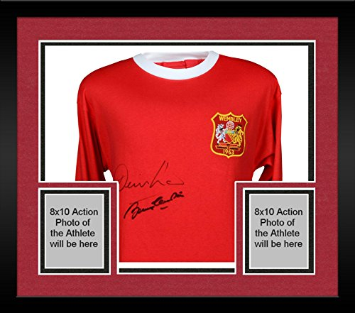Framed Denis Law & Sir Bobby Charlton Manchester United Autographed 1963 Cup Final Jersey - ICONS - Fanatics Authentic Certified