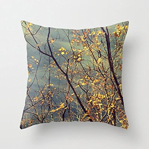 [My Honey Pillow Change In Blue And Gold Throw Pillow By V. Sanderson / Chickens In The Treesfor Your Home] (Sanderson Quilt)