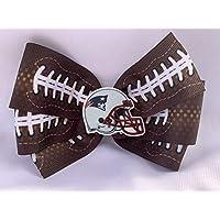 New England Patriots Hair Bow, Football Hair Bow, Football Hair Accessories, Football Hair Clip