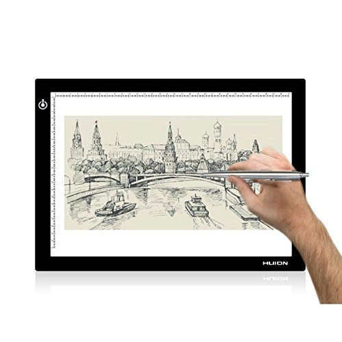 Huion L4S LED Light Box A4 Ultra-thin USB Powered Adjustable Light Pad for Tracing by Huion