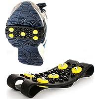 Pinkfishs Ooutdoor 5 Clavos Anti-Deslizamiento Agarre Hielo Punto de Invierno Caminar Deportes Zapatillas Zapatos Cubierta -
