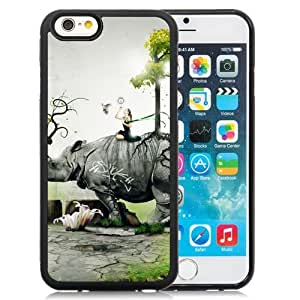 Personality customization Custom Rhino Girl Nature Birds Situation Forest iPhone 6 4.7 inch cell phone case At LINtt Cases