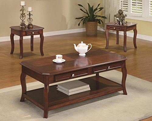 Coaster Home Furnishings 3 Piece Table Group-Warm Bourbon fi