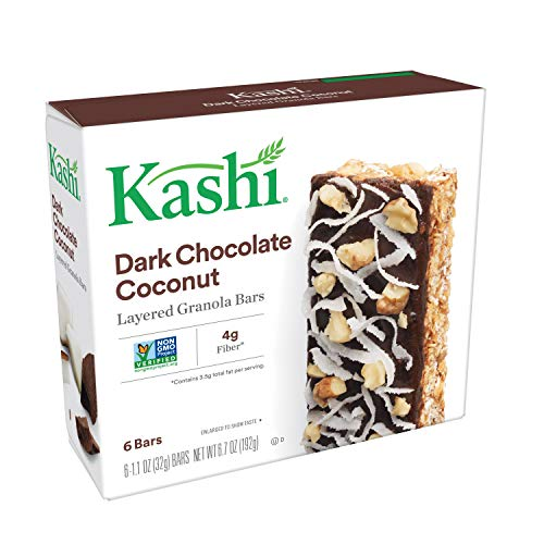 Kashi, Layered Granola Bars, Dark Chocolate Coconut, Non-GMO Project Verified, 6.7 oz (6 Count)
